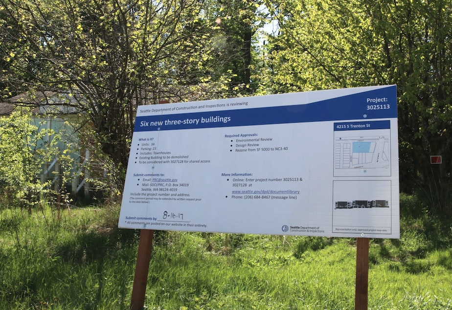 caption: A land use sign in Rainier Beach, near the light rail station. (for an unrelated project)