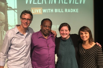 [L-R] Bill Radke, Charles Mudede, Rachel Lerman and Monica Guzman