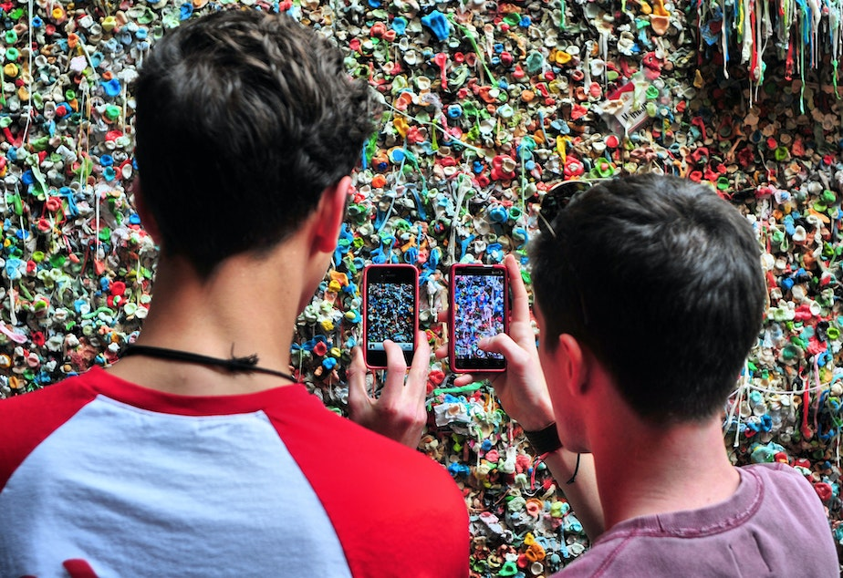 caption: Eat a chunk off the gum wall in Post Alley? Not so sure about that.