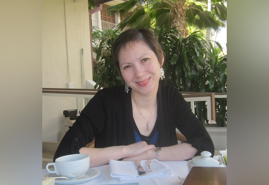 """caption: Many of the poems in Kim-An Lieberman's second collection, """"In Orbit,"""" reach back to her family's roots in Vietnam."""