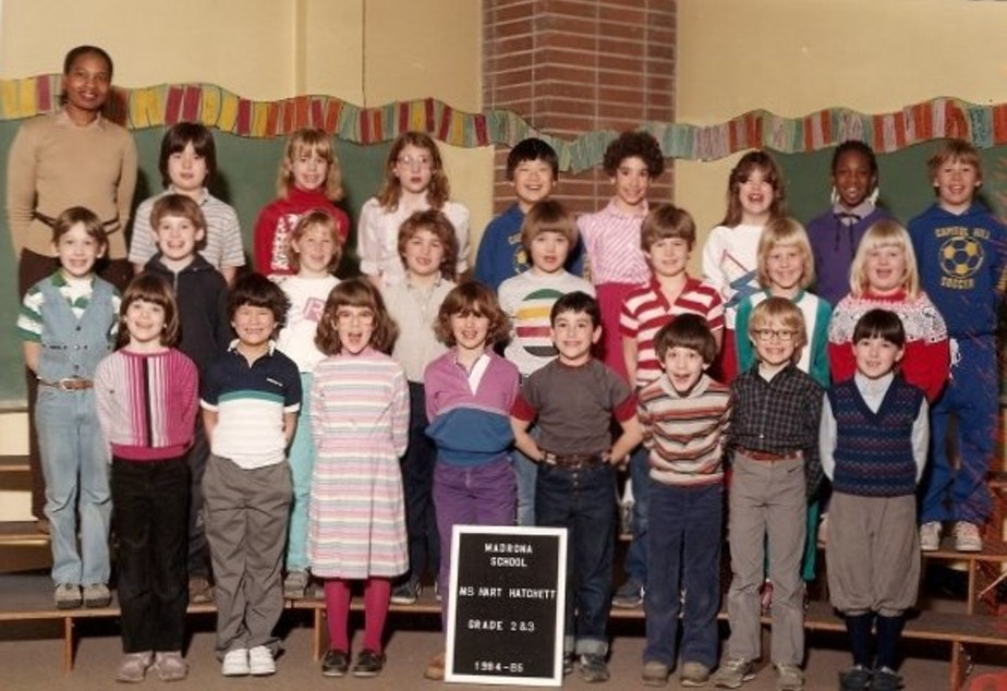 caption: A second- and third-grade combined IPP class at Madrona Elementary School in Seattle in 1984.