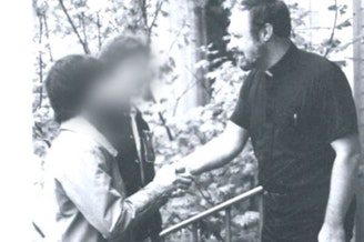 Father Theodore Marmo, accused of sexual abuse, in a photo from a brochure for St. Edward Hall, a seminary that was part of the John F. Kennedy Catholic High School campus in Burien.