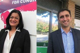 Pramila Jayapal and Brady Walkinshaw agree on the issues for the most part. Walkinshaw notes that his contributions come mostly from within Washington state; Jayapal rebuts that she is running for national office.