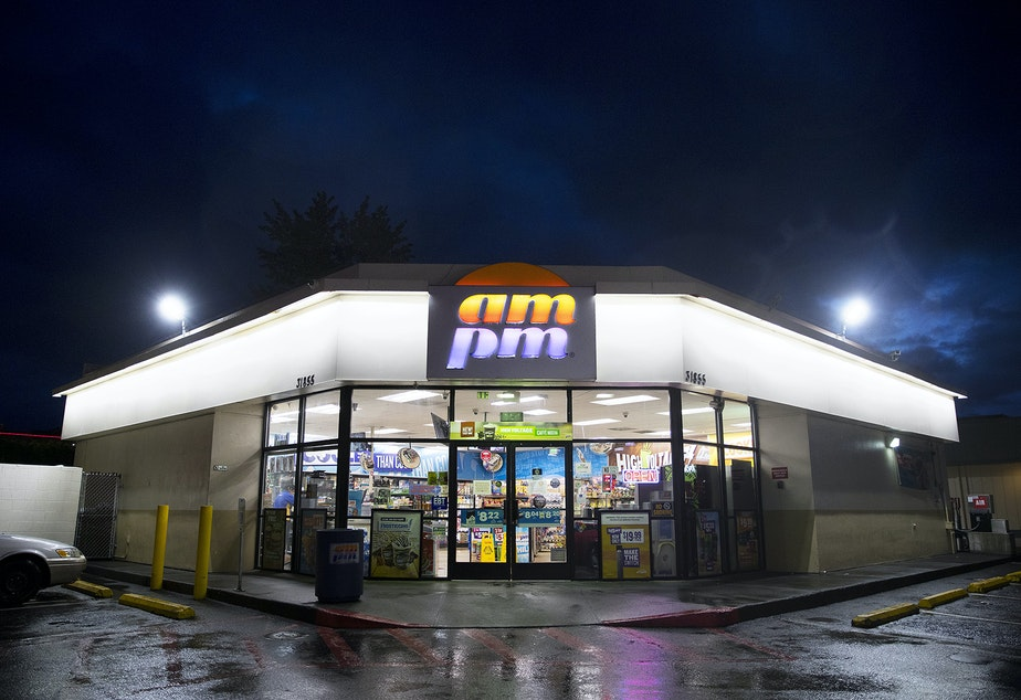 The ampm where Josiah Hunter was put into a chokehold in 2014 is shown on Tuesday, May 14, 2019, on Pacific Highway South in Federal Way.