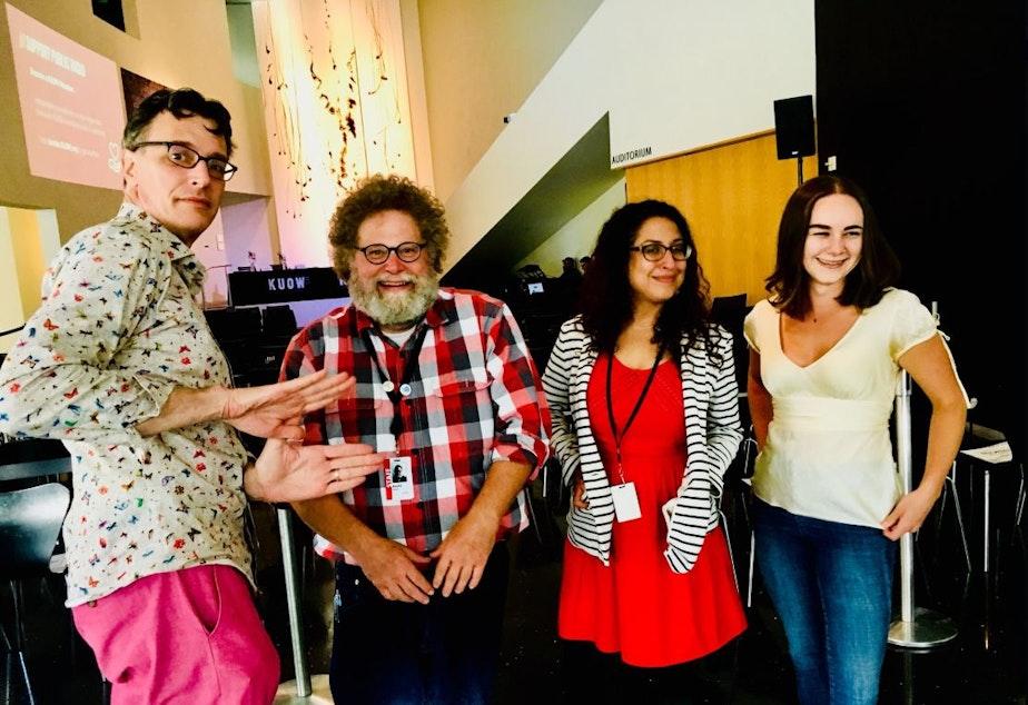 caption: L-R: Bill Radke, Knute Berger, Vianna Davila, Monica Nickelsburg