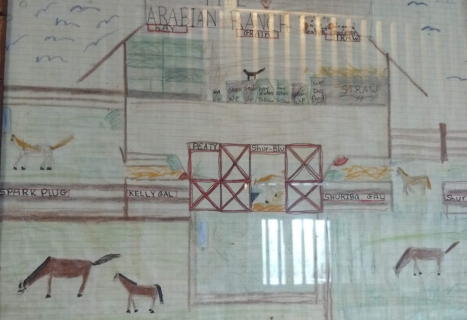 Diane Gockel drew this picture of her dream farm when she was a child.