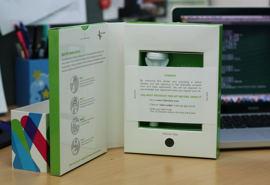 FILE: A 23andme at-home genetic testing kit from 2008.