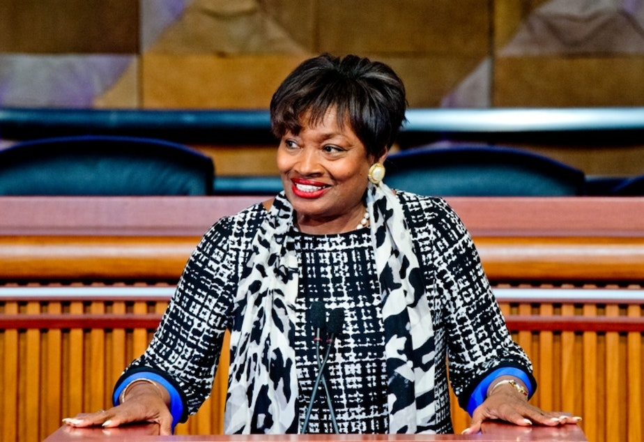 Senator Andrea Stewart-Cousins, leader of the democrats in New York's state senate, which just won a majority after ten years out of power. She has expressed deep concerns about Amazon's HQ2 deal with New York and has called for accountability.