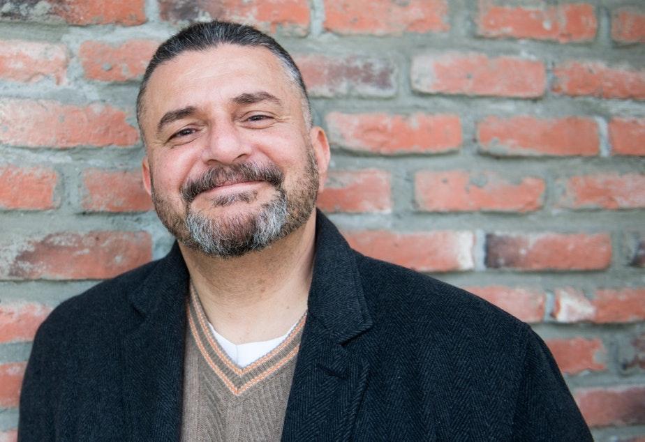 caption: Seattle Playwright Yussef El Guindi.