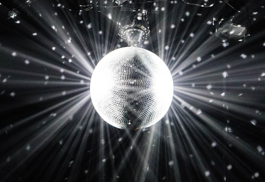 caption: A disco ball, ready to party