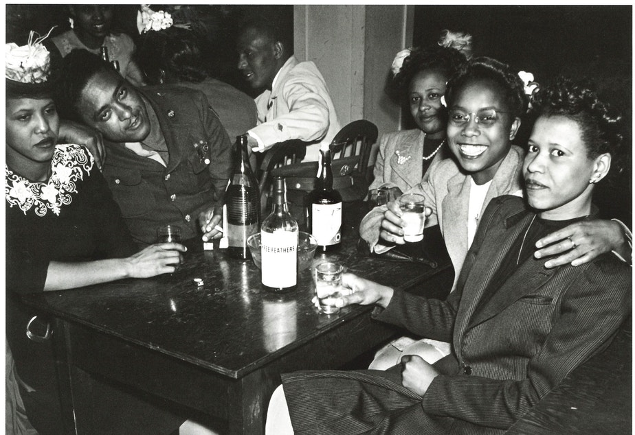 The Rizal Social Club. MOHAI dates this photo around 1944. We wonder what the woman on the left and the woman on the right are thinking. (To help us ID these patrons, note the photo number. This is #10.)
