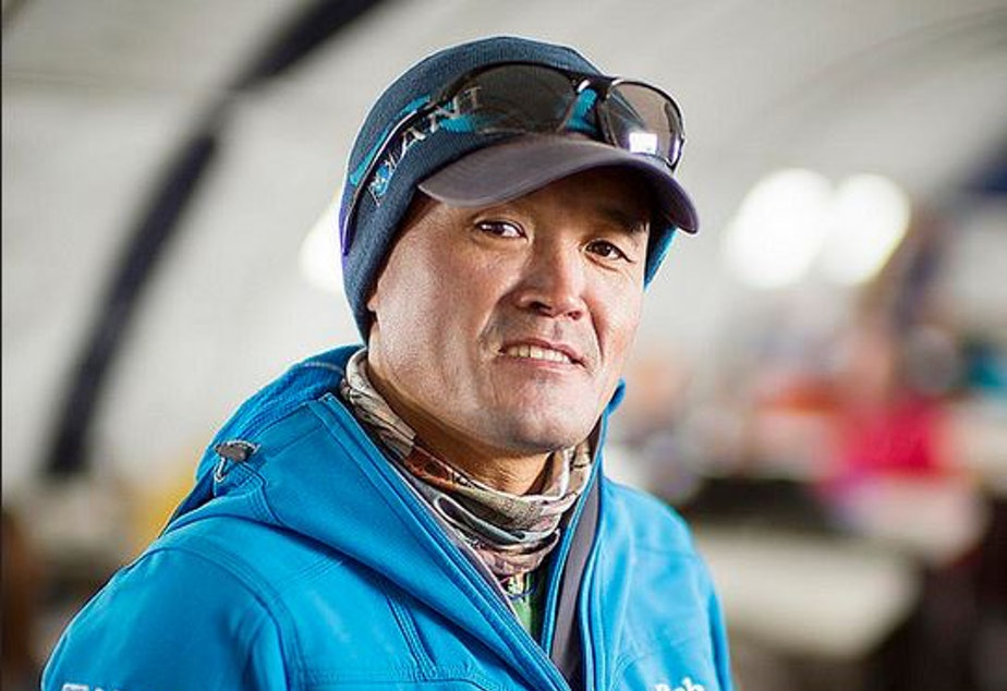 caption: Lhakpa Gelu Sherpa, who lives in the Seattle area, has summited Everest 15 times. He holds the official record for speed in climbing the world's tallest peak -- 10 hours, 56 minutes and 46 seconds.
