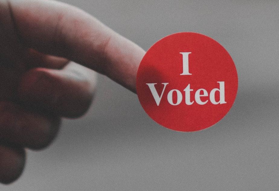 caption: Voting sticker
