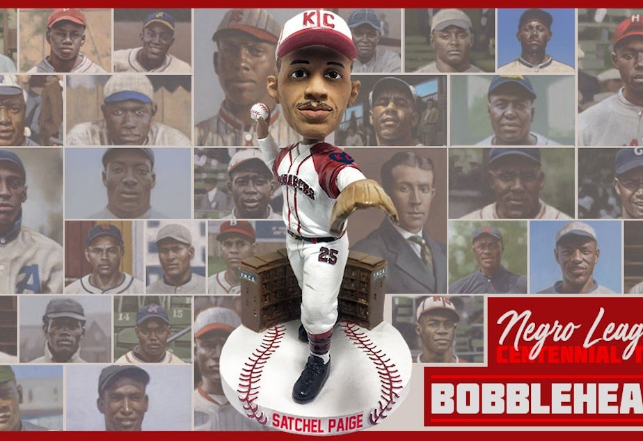 caption: The bobblehead series is being produced by the National Bobblehead Hall of Fame and Museum in collaboration with Dreams Fulfilled and the Negro Leagues Baseball Museum. Pitcher Satchel Paige is the first bobblehead featured.