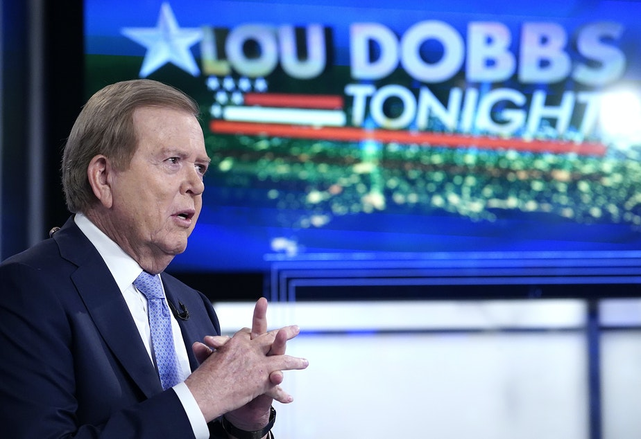 """caption: Fox Business host Lou Dobbs suggested Republicans who voted to certify President-elect Joe Biden's win were """"criminal."""""""