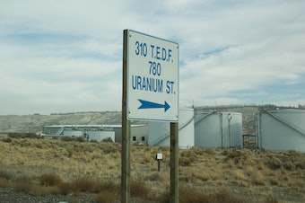 Part of the Hanford Nuclear Reservation in eastern Washington.