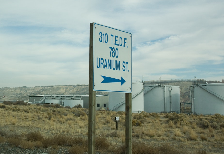 caption: Part of the Hanford Nuclear Reservation in eastern Washington.