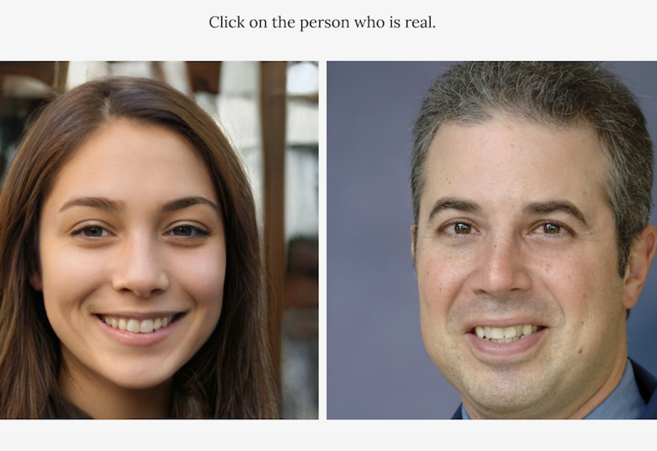 caption: An image from the Which Face Is Real website, which trains users to spot fake digital identities