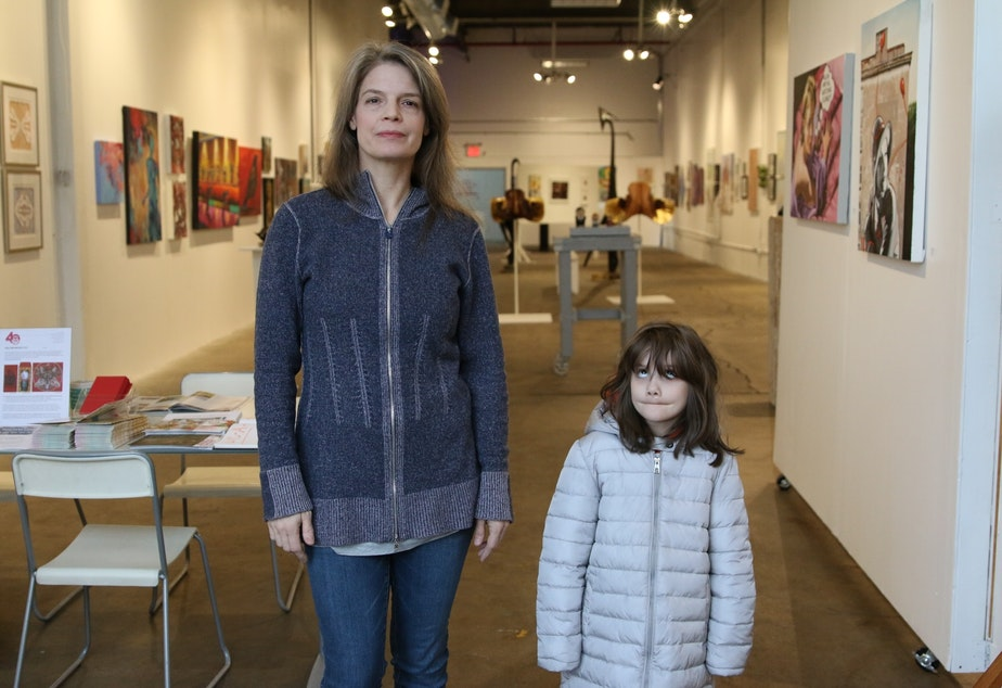 Norma Homberg and Aurora at the Plaxall Gallery, run by Long Island City Artists