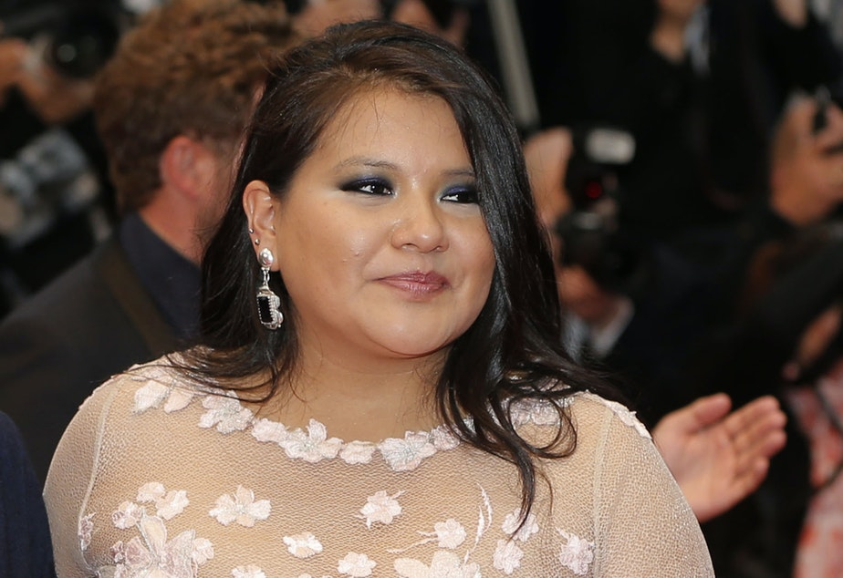 Misty Upham arrives for a screening at the Cannes film festival in Cannes, France, on May 17, 2013.