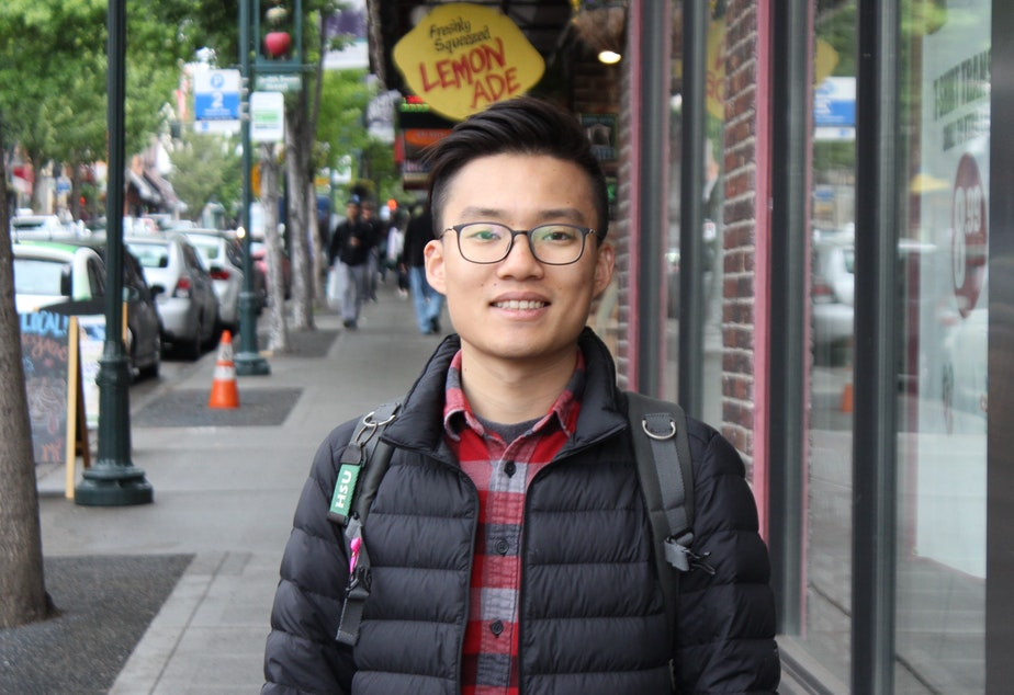 caption: Thomas Chengxi Zou is a native of China who is now a graduate student in journalism at the University of Washington. With all the challenges facing international students, he wondered about the state of their mental health.