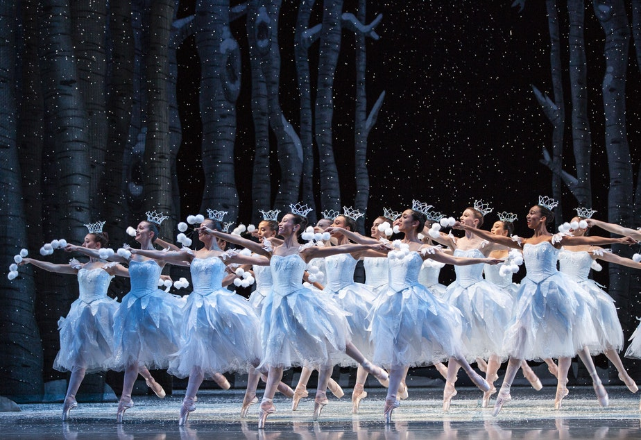 "Pacific Northwest Ballet company members in George Balanchine's ""Nutcracker"""