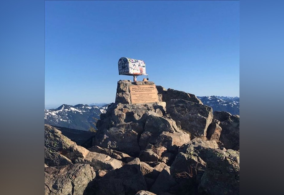 The top of Mailbox Peak trail, a popular hike in the Snoqualmie area.