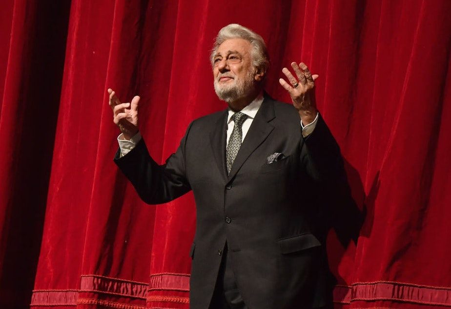 Plácido Domingo, onstage at New York's Metropolitan Opera last year. Nine women have accused Domingo of trying to pressure them into a sexual relationship by offering them jobs.