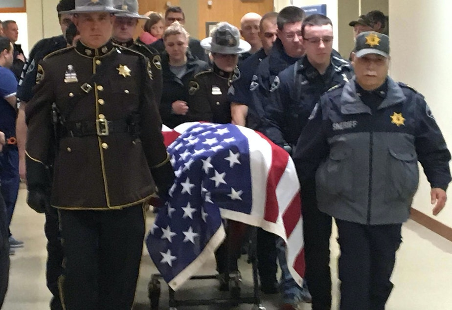 Pierce County Sheriff's Department posted this photo to their Facebook page, announcing the death of Deputy Daniel A. McCartney.