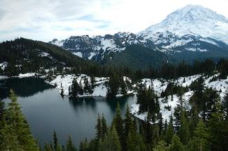 Eunice Lake from Tolmie Peak in Rainier National Park, Washington.