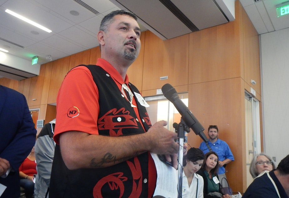 caption: Makah Tribal Council member and commercial fisherman Nate Tyler of Neah Bay, Washington