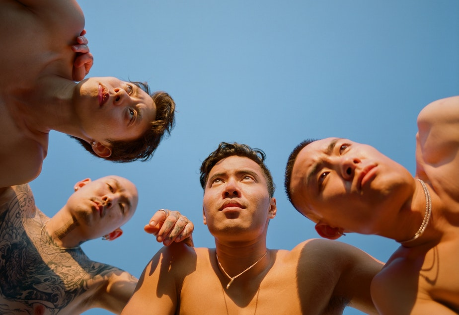 caption: Portrait of a group of Asian men by Brooklyn-based photographer Andrew Kung. This portrait is from Kung's series The All-American, which aims to re-imagine Asian masculinity. See the series at apkung.com/the-all-american