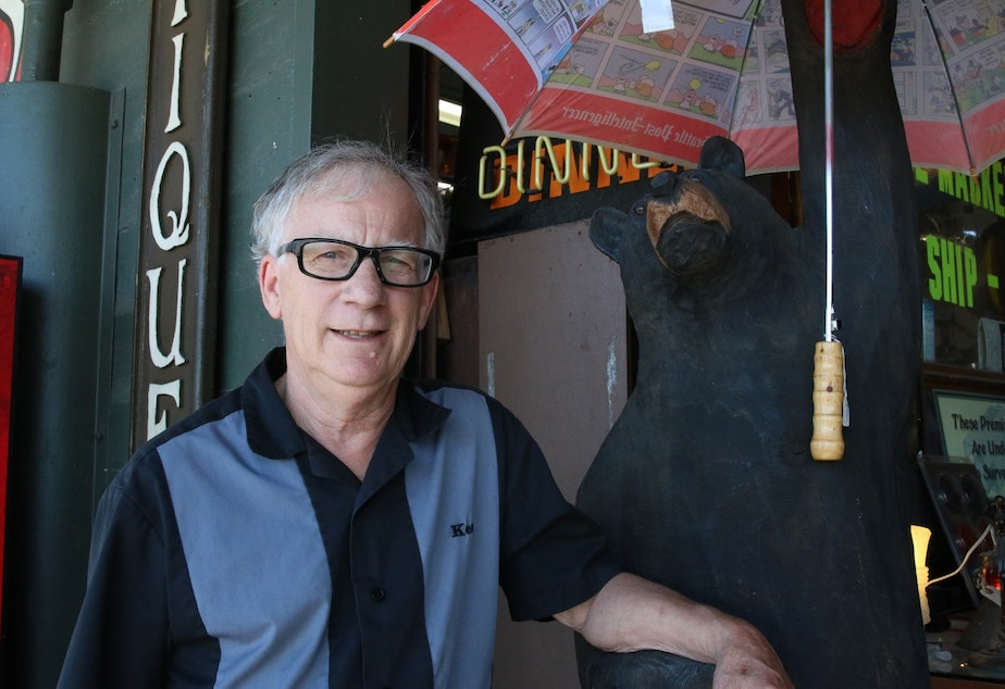 Ken Eubank has run the Seattle Antiques Market for over 40 years.