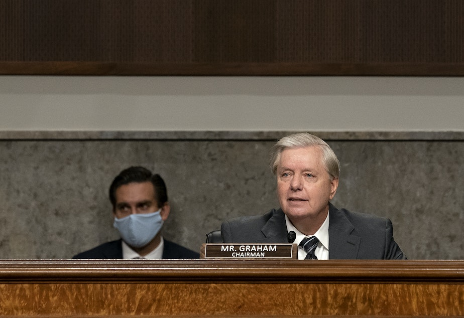 caption: Sen. Lindsey Graham, R-S.C., will preside over confirmation hearings for Judge Amy Coney Barrett — President Trump's third nominee to the Supreme Court.
