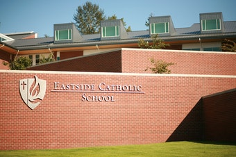 Students at Eastside Catholic High School held a sit-in on Thursday in solidarity for the vice principal who was asked to resign.