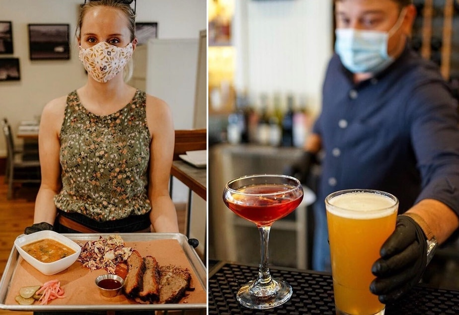 caption: Salt & Irons in Edmonds has reopened for business: masks, disposable menus, and contact tracing optional.