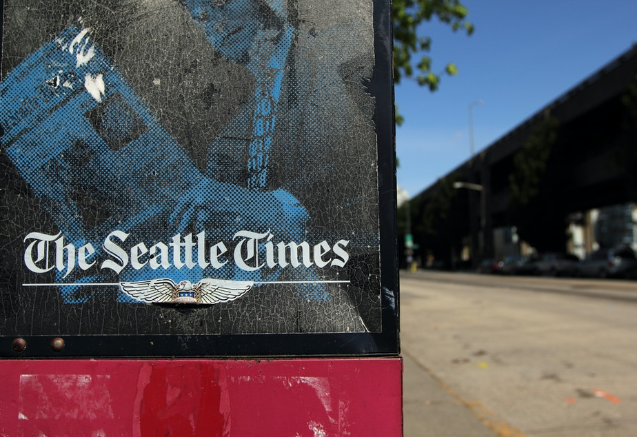 Newspaper box for The Seattle Times, 2012.