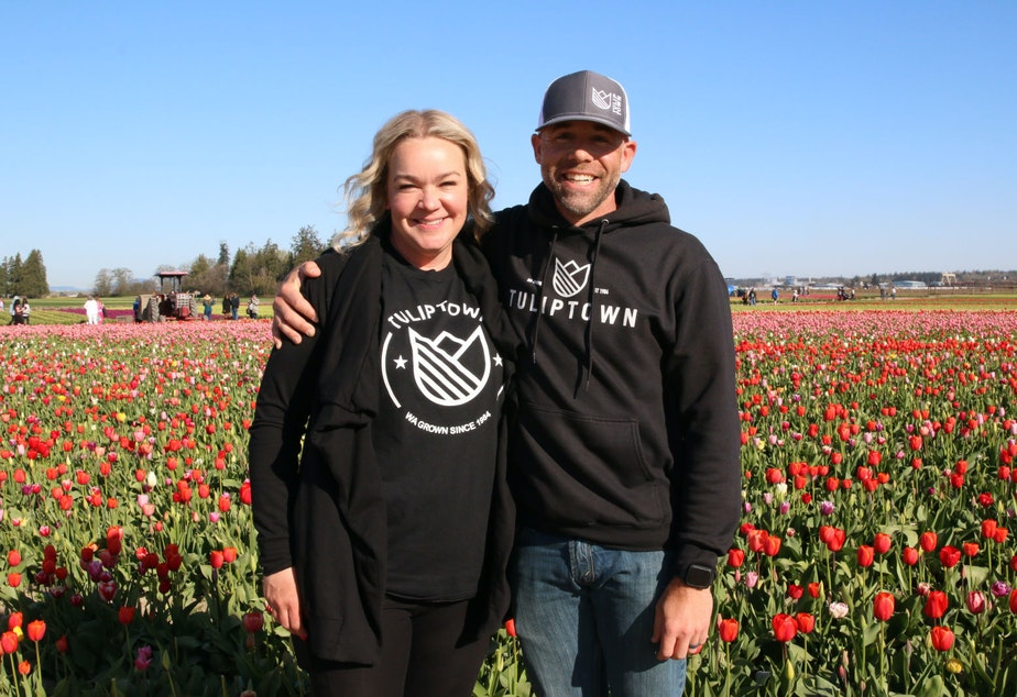 caption: Andrew Miller and Angela Speer are two of the five owners of TulipTown.