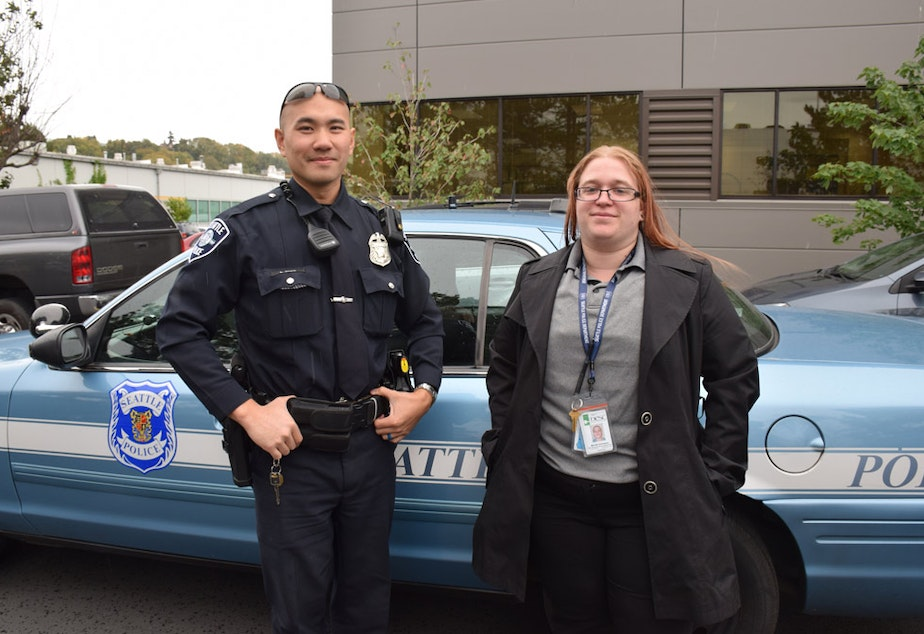 Seattle Police Officer Louis Chan partners with Mariah Andrignis, a social worker from DESC who contracts with SPD to help with crisis response.