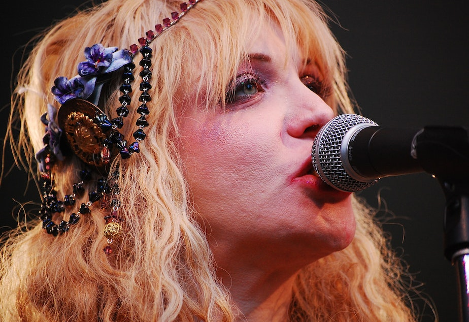 "Courtney Love, frontwoman of the grunge band ""Hole"", at SXSW Music and Arts Festival in Austin, Texas on March 18, 2010."