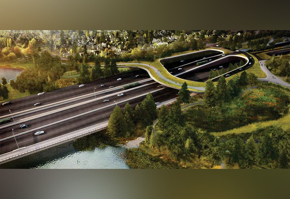 The lid over the highway would dampen noise and provide pedestrians a connection to the north, toward the University of Washington and the new light rail station set to open in a year and a half.