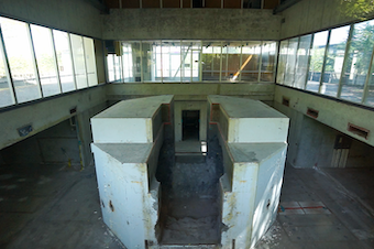 A look inside More Hall Annex at the old nuclear reactor