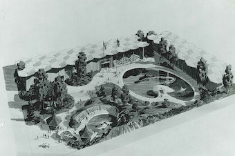 Proposed 'marine park' at Seattle Center, 1966