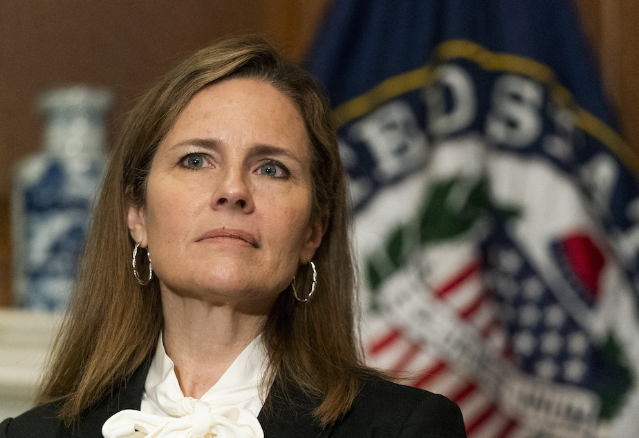 caption: The Senate Judiciary Committee begins confirmation hearings this week for Supreme Court Nominee Amy Coney Barrett.