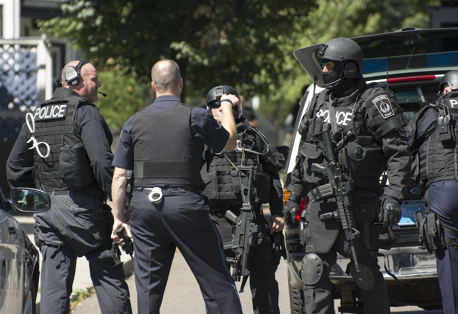 caption: A SWAT standoff in Massachusetts in 2013.