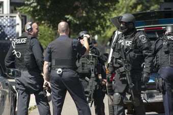 A SWAT standoff in Massachusetts in 2013.
