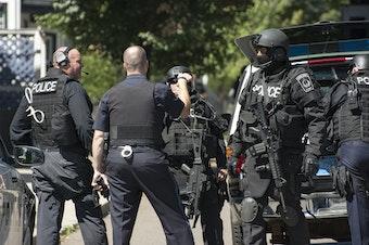 A SWAT standoff in Massachusetts in 2013.
