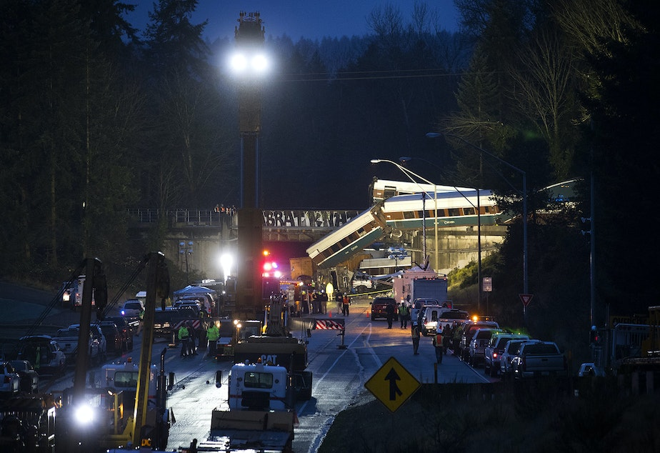 caption: The first of many lawsuits stemming from the December 2017 derailment of Amtrak Cascades Train 501 went to trial in Tacoma on Tuesday.