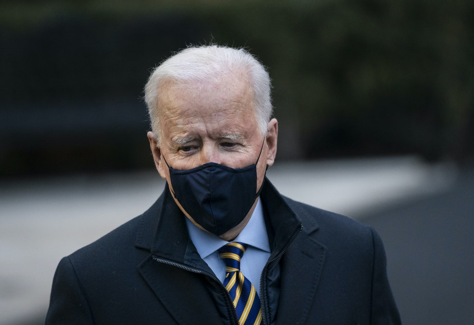 caption: President Biden will announce a cash infusion plan to help prop up the global coronavirus response.