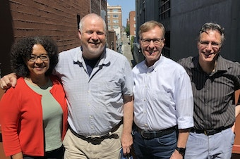 [L-R] Marilyn Strickland, Mike McGinn, Rob McKenna and Bill Radke